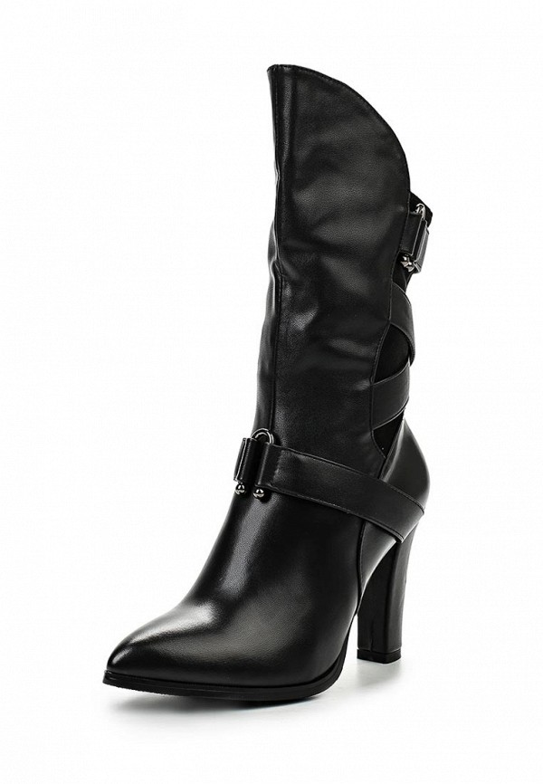 Полусапоги LOST INK HIGH-LOW VAMP MID-HEIGHT BOOT BLACK