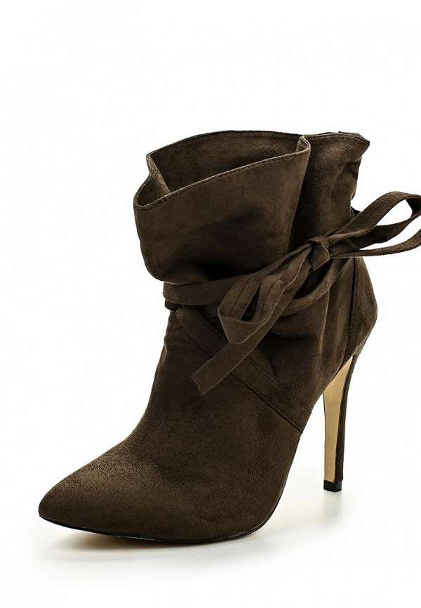 Ботильоны LOST INK WRAP AROUND TIE ANKLE BOOT OLIVE