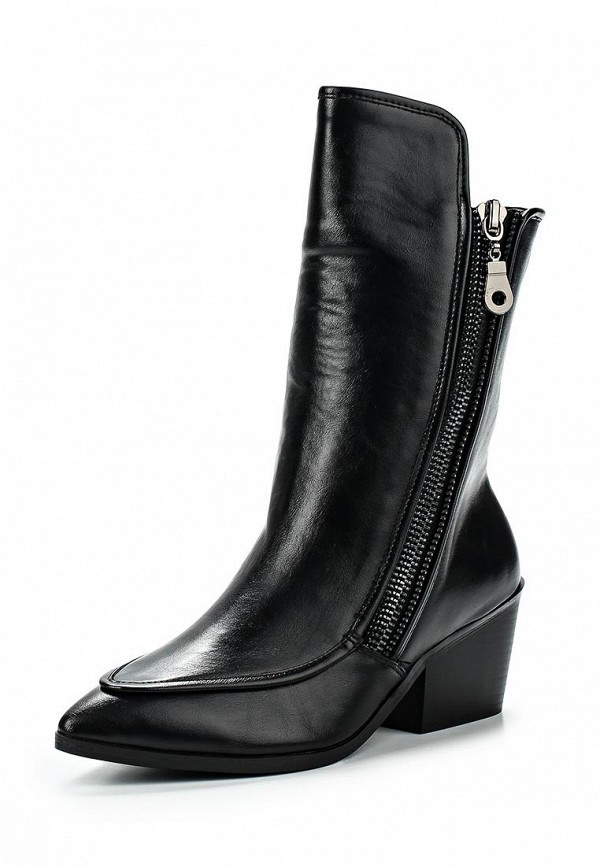 Полусапоги LOST INK SIDE ZIP POINTED MID-HEIGHT BOOT BLACK