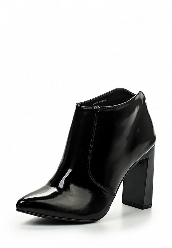 Ботильоны LOST INK FLAT SQUARE HEELED POINT ANKLE BOOT BLACK