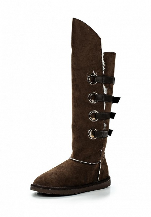 Угги LOST INK UNDINE STRAP BACK HIGH LEG FAUX FUR BOOT
