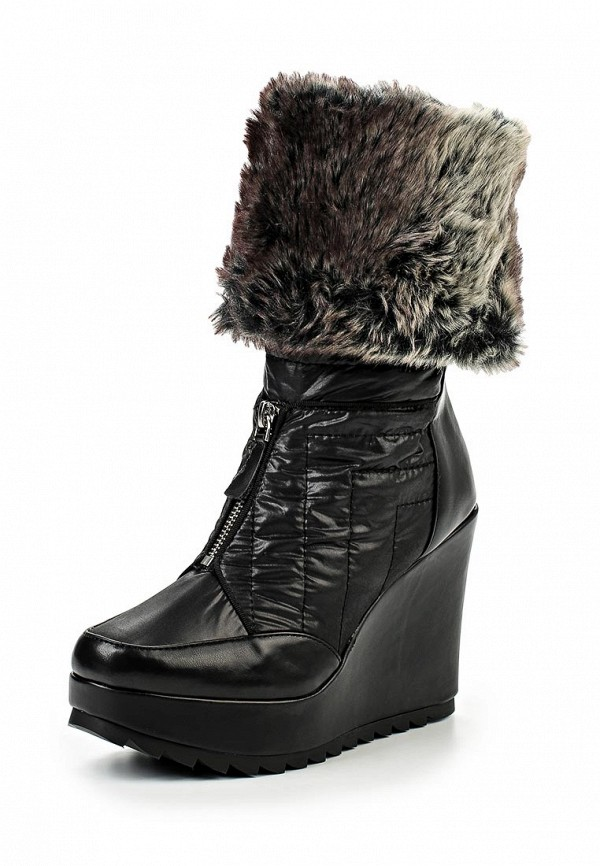 Сапоги LOST INK OPAL TURN DOWN FUR COLLAR WEDGE SNOWBOOT