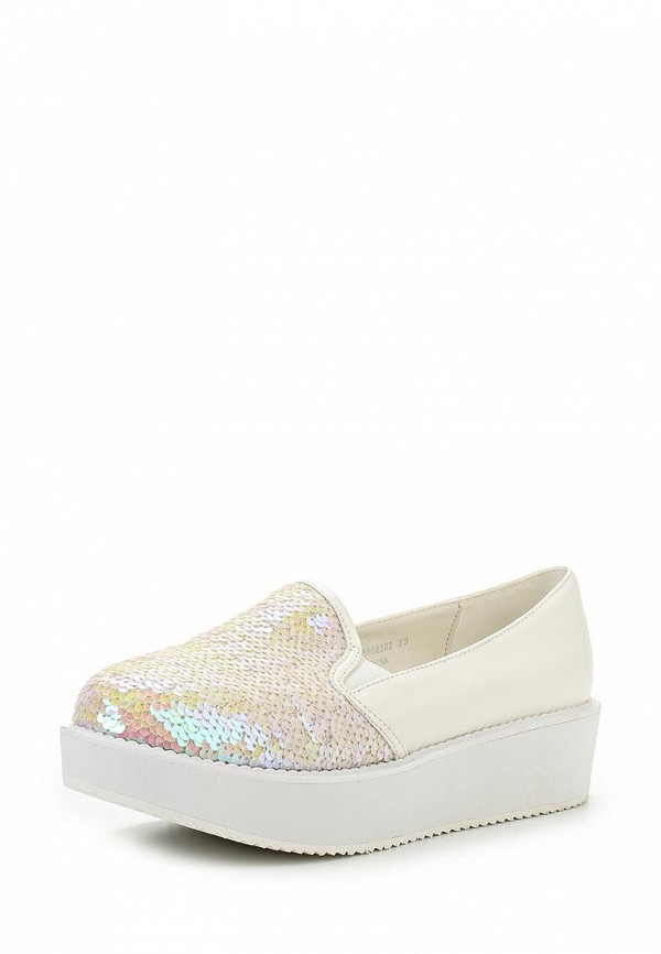 Слипоны LOST INK MERMAID SEQUIN FLATFORM PLIMSOLL - PINK & WHITE