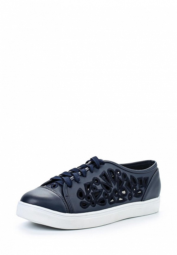 Фото: Кеды LOST INK STEFFI LASER CUT  PLIMSOLL- NAVY