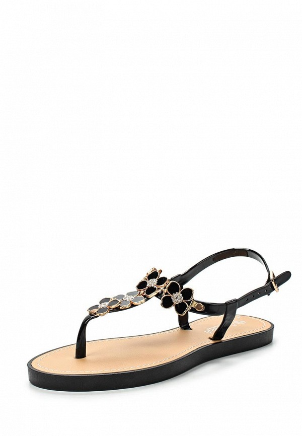 Шлепанцы LOST INK FLORAL TRIM JELLY SANDAL