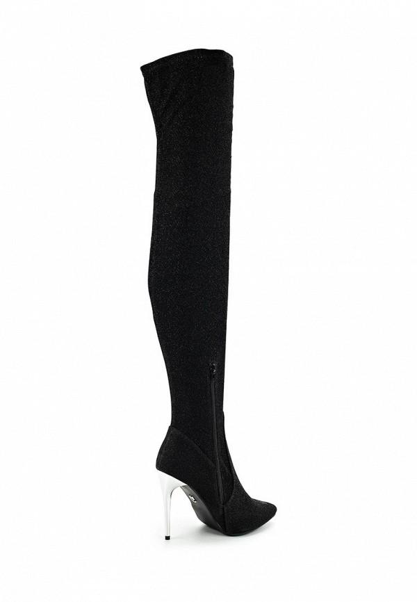 Фото 2 - женские ботфорты LOST INK черного цвета