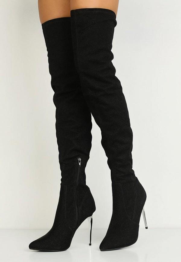 Фото 6 - женские ботфорты LOST INK черного цвета
