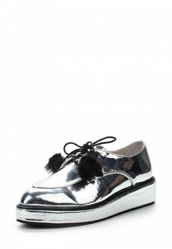 Купить Ботинки LOST INK, JANEY FLATFORM LACE UP SHOE, LO019AWYFA33, серебряный, Осень-зима 2017/2018