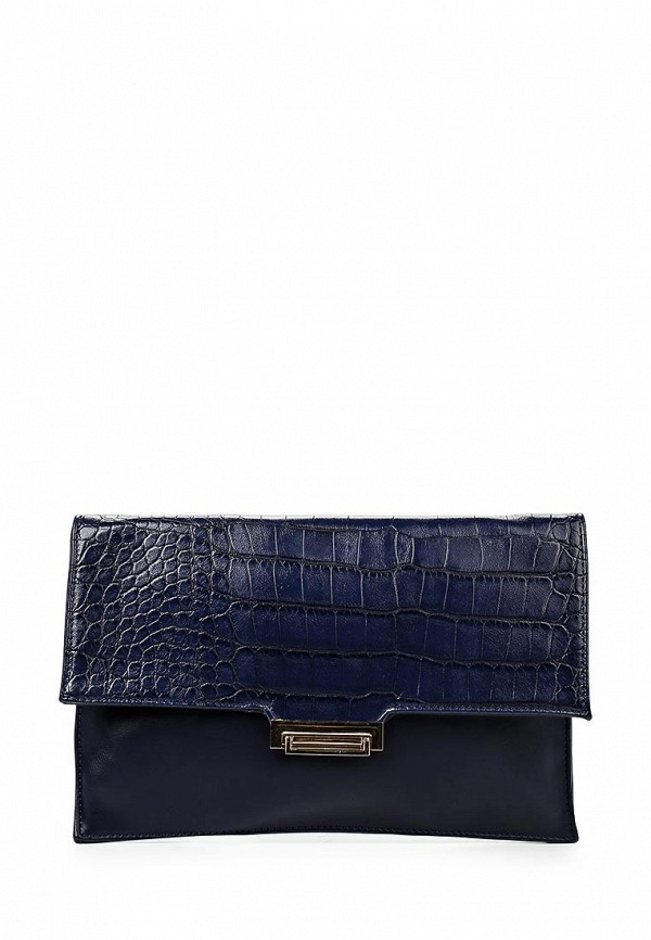 Клатч LOST INK NAVY SNAKE PRINT GOLD CLASP CLUTCH