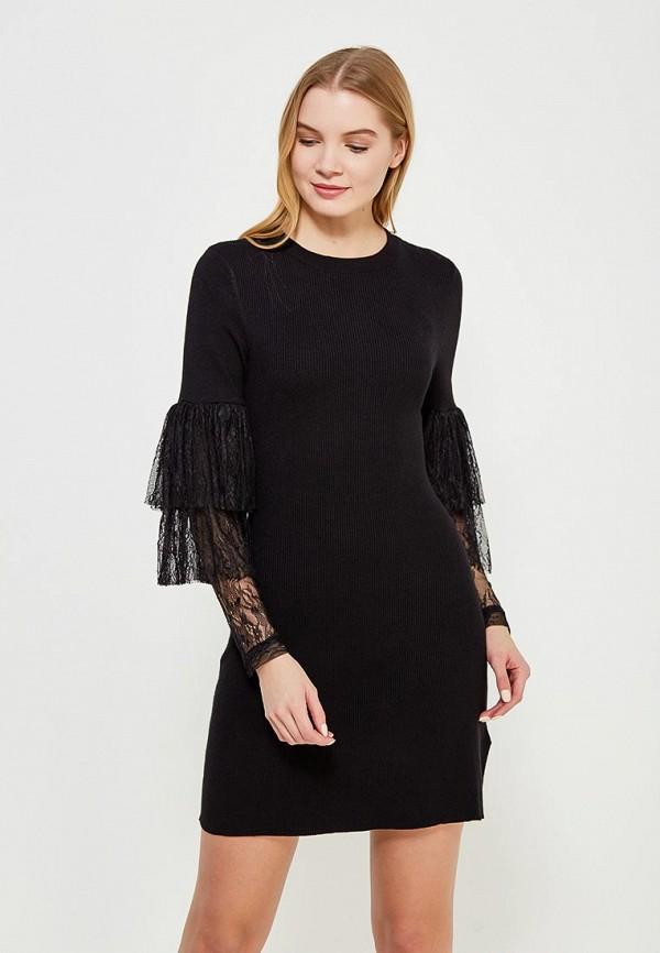 Купить Платье LOST INK, VOLUME LACE SLV FIT AND FLARE DRESS, LO019EWAALZ5, черный, Весна-лето 2018