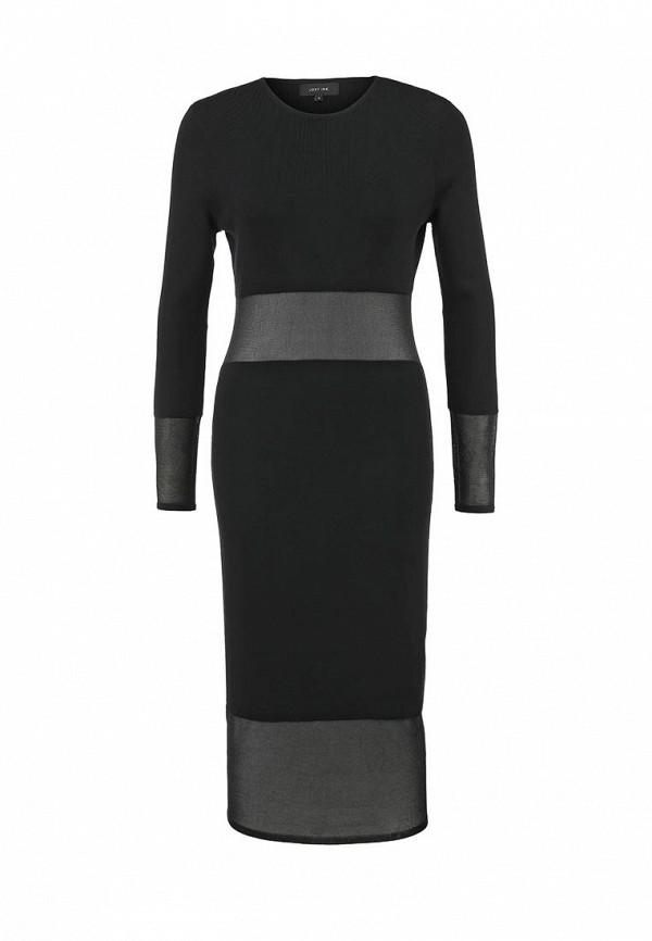 Платье LOST INK Sheer chest and hem wiggle knit dress