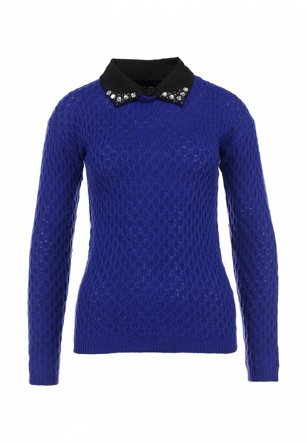 Джемпер LOST INK Stitched jumper with embellished collar