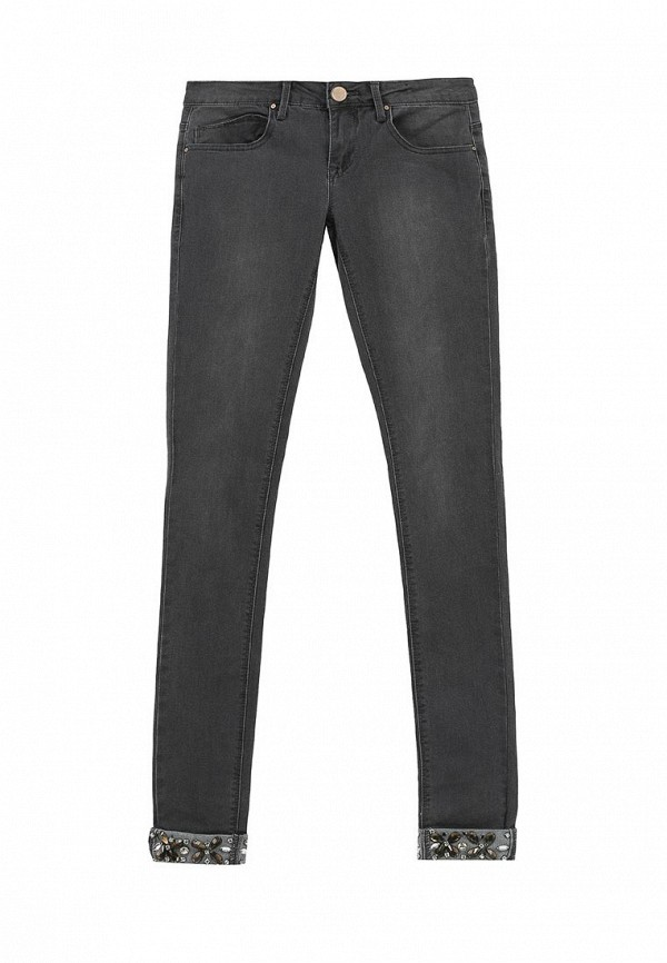 Джинсы LOST INK SKINNY JEAN IN CARBON WASH WITH EMBELLISHED CUFF