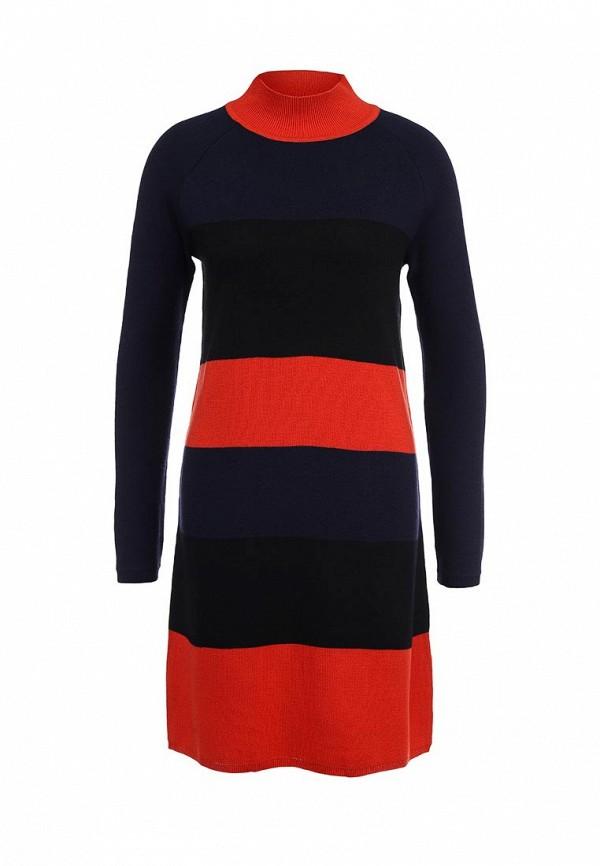Платье LOST INK High neck multi stripe pop dress