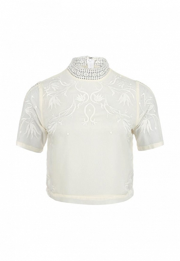 Топ LOST INK PREMIUM EMB CROCHET TRIM TOP