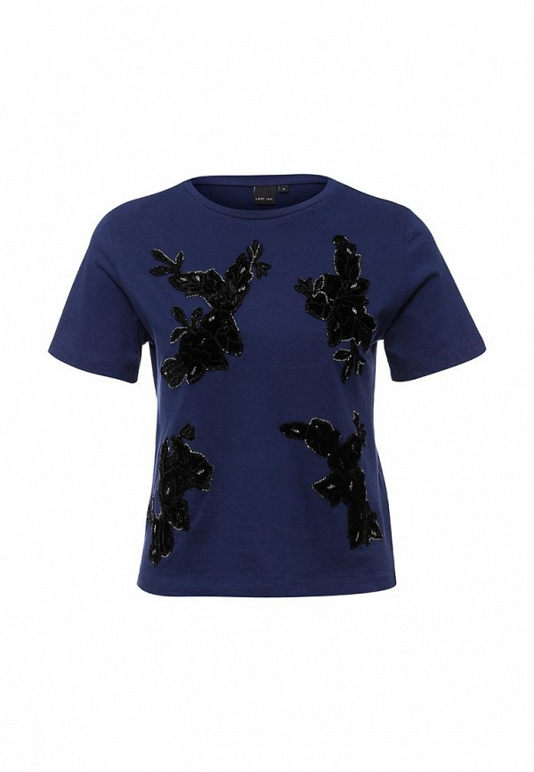 Топ LOST INK FRONT EMBELLISHED VELVET TEE