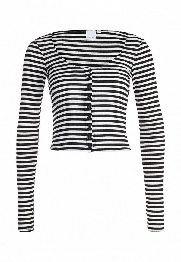 Лонгслив LOST INK STRIPES TEE WITH BUTTONS