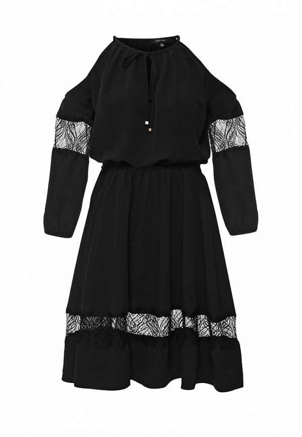 Платье LOST INK SOLITA COLD SHOULDER LACE INSERT DRESS