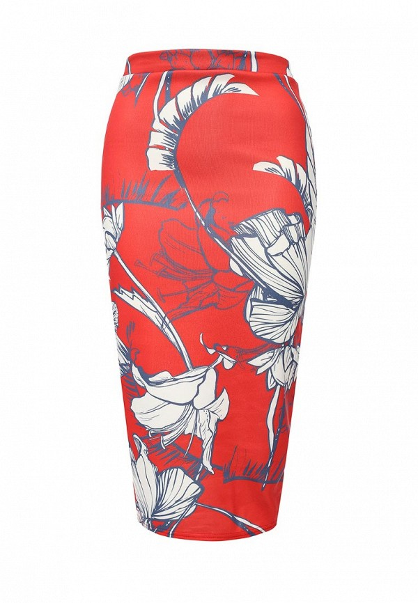 Юбка LOST INK LARGE FLORAL JERSEY PENCIL