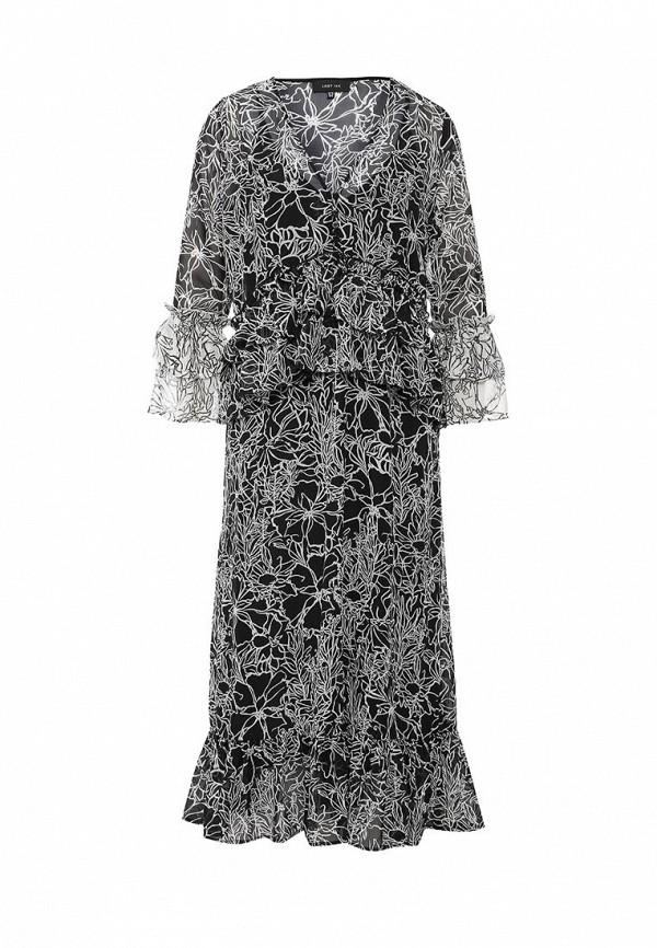 Платье LOST INK RACH FRILL NEGATIVE MONO DRESS