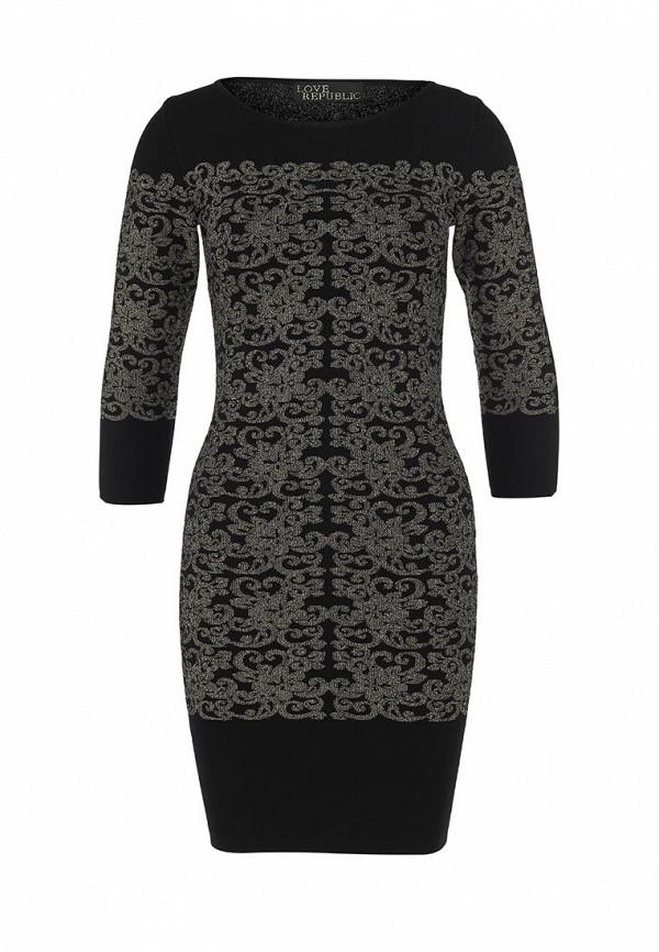 Платье-мини с оригинальным орнаментом Love Republic
