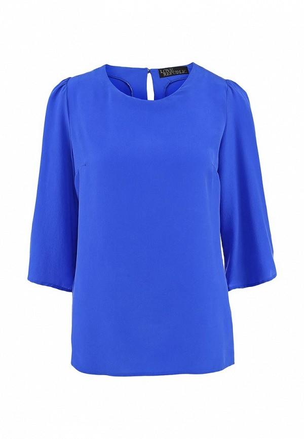 Синяя осенняя блузка Love Republic