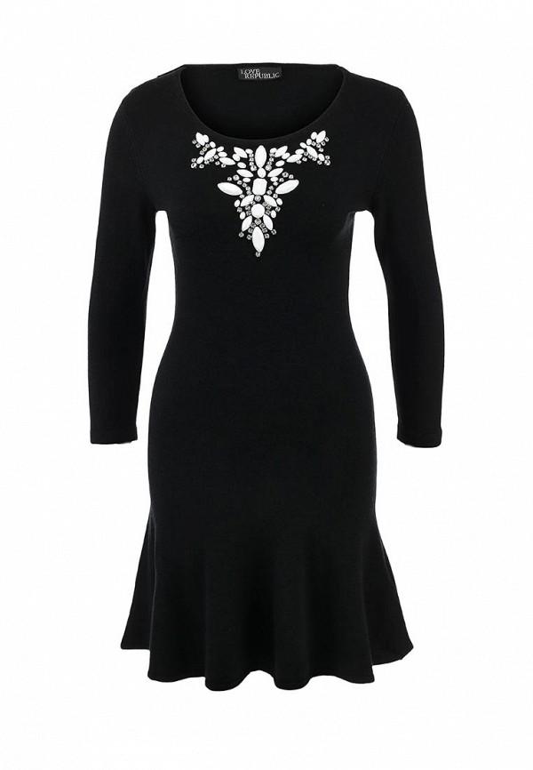 Элегантное платье полуприлегающего силуэта Love Republic