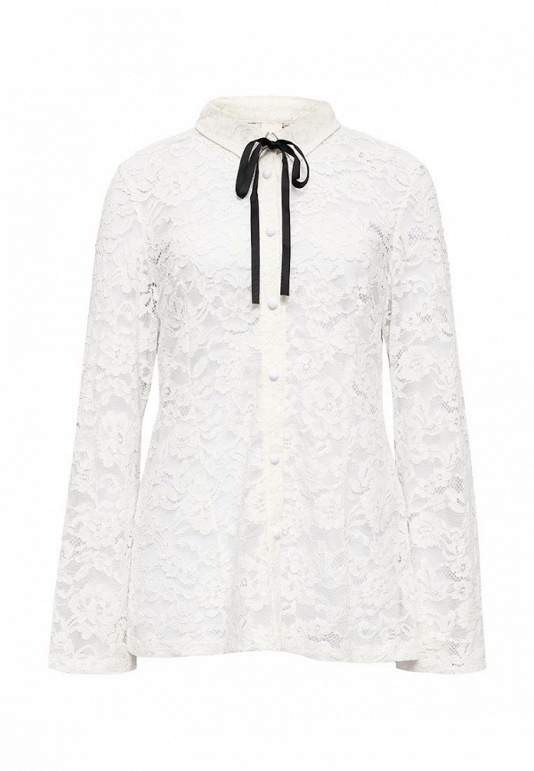 Рубашка Lost Ink Curve LACE SHIRT WITH BOW