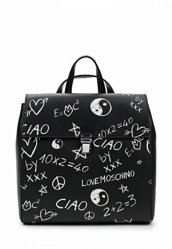 Рюкзак Love Moschino. Цвет: черный