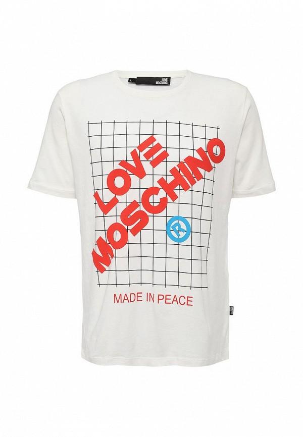 Футболка с надписями Love Moschino M 4 732 02 M R661