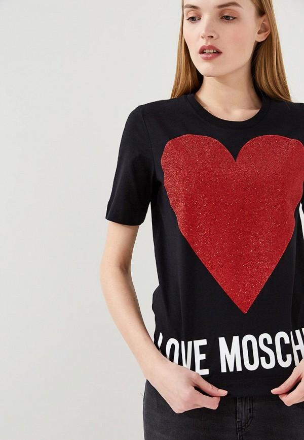 Футболка Love Moschino Love Moschino LO416EWAEVM4 футболка love moschino love moschino lo416ewypt14