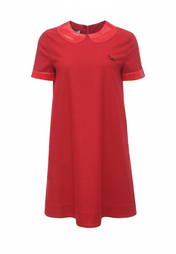 Купить женское платье Love Moschino красного цвета