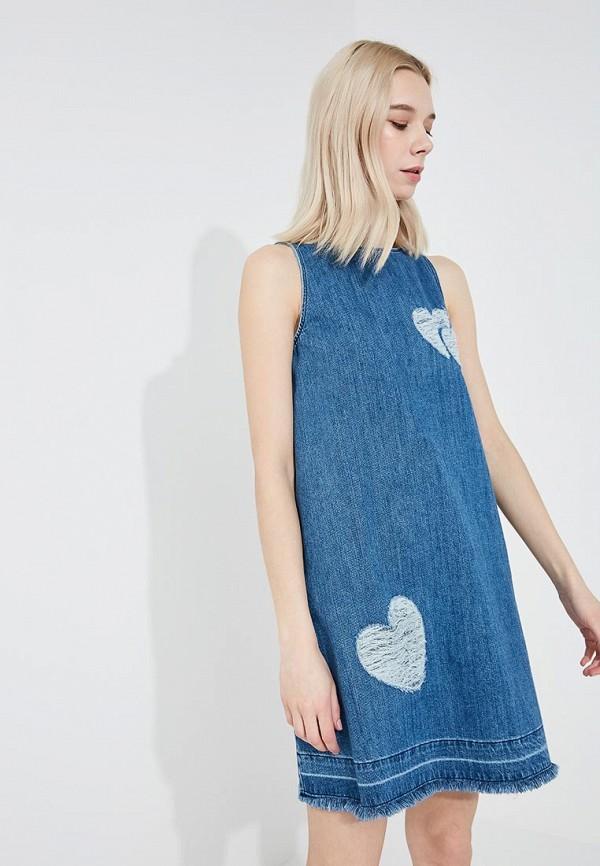 цена Платье джинсовое Love Moschino Love Moschino LO416EWYPS94 онлайн в 2017 году