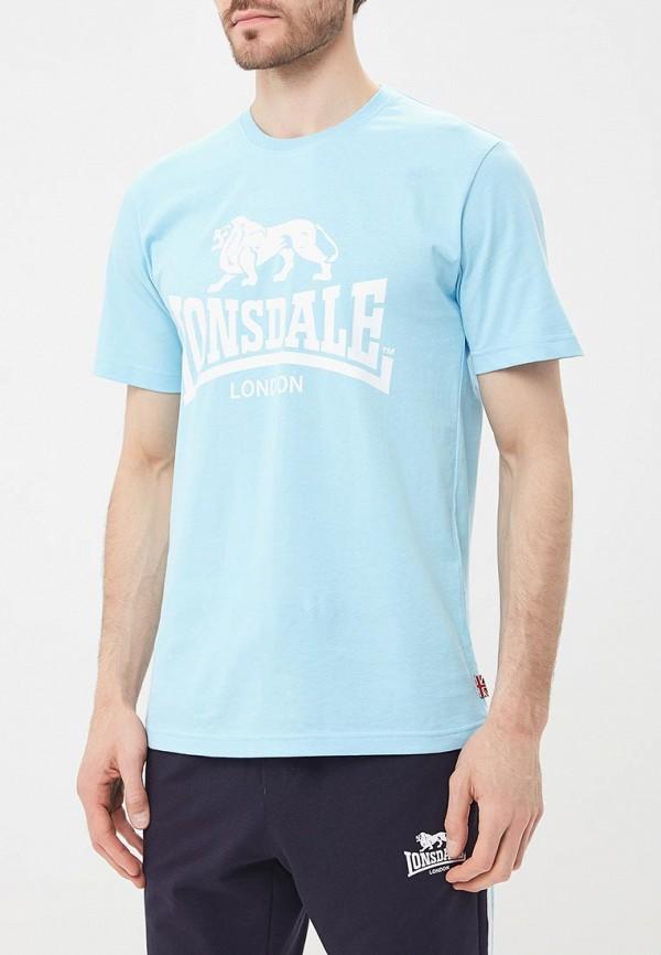 Купить Футболка Lonsdale, LO789EMBIQW3, голубой, Весна-лето 2018