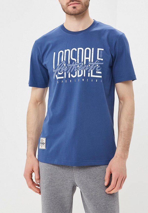 Купить Футболка Lonsdale, LO789EMBIQW6, синий, Весна-лето 2018