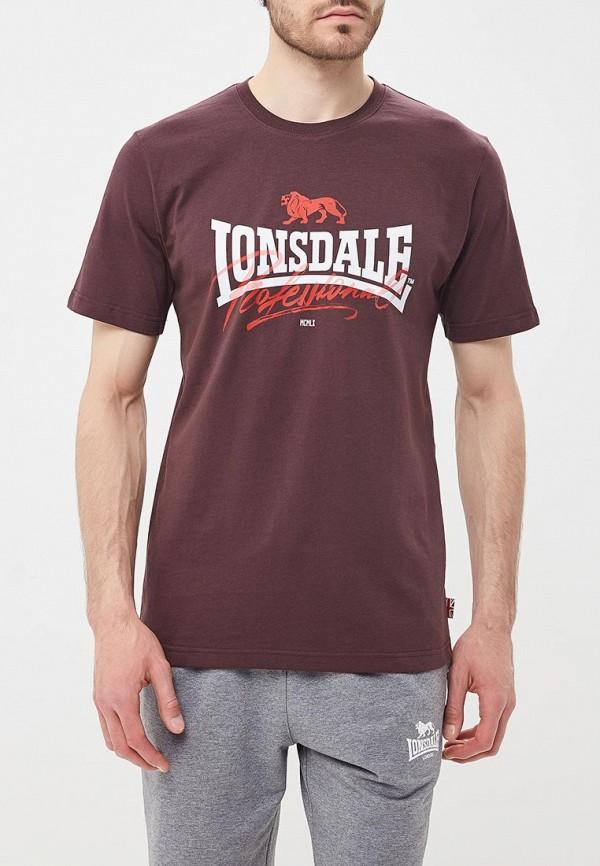 Купить Футболка Lonsdale, LO789EMBIQX5, коричневый, Весна-лето 2018