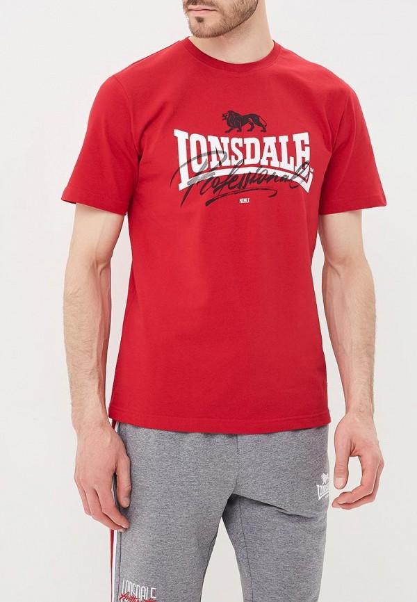 Купить Футболка Lonsdale, LO789EMBIQX7, красный, Весна-лето 2018