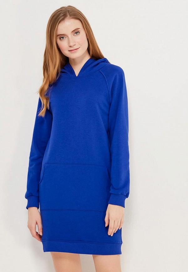 Купить Трикотажное Синее Платье
