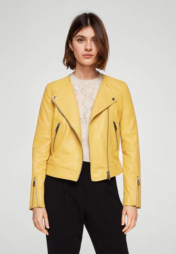 Куртка кожаная Mango Mango MA002EWAQUE8