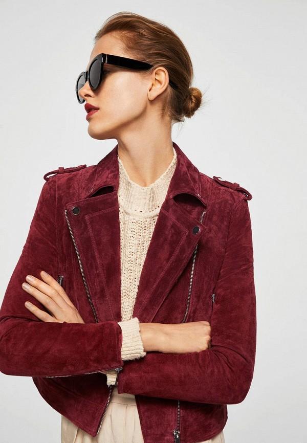 Фото Куртка кожаная Mango. Купить с доставкой