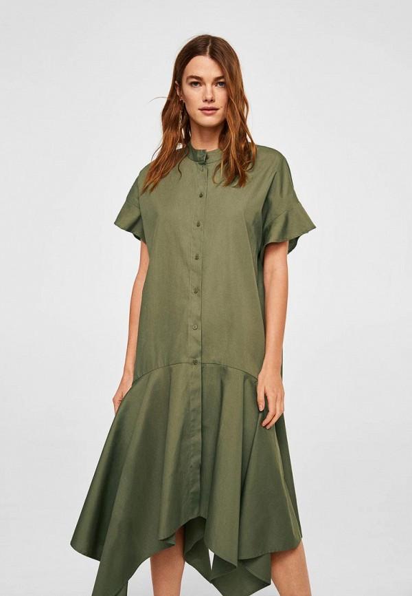 Купить Платье Mango, - QUEENS-A, MA002EWBOVA2, хаки, Осень-зима 2018/2019