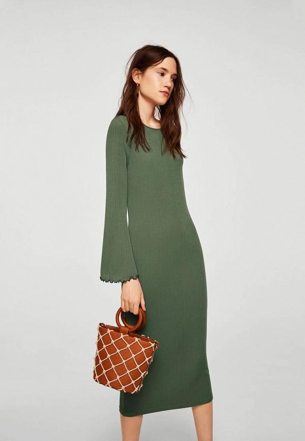 Купить Платье Mango, - TEINT-A, MA002EWBOVA4, хаки, Осень-зима 2018/2019