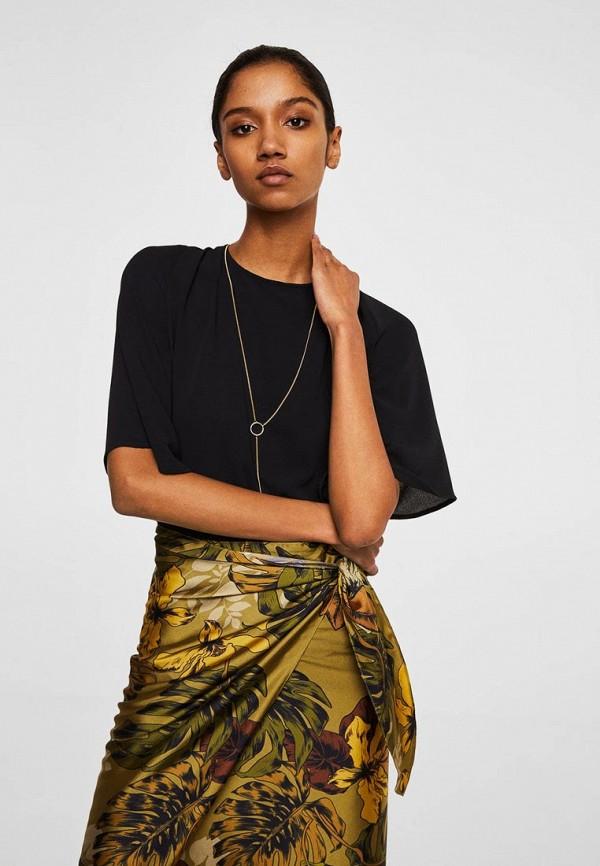 Блуза Mango, - MERCUR-A, MA002EWBOVH4, черный, Осень-зима 2018/2019  - купить со скидкой