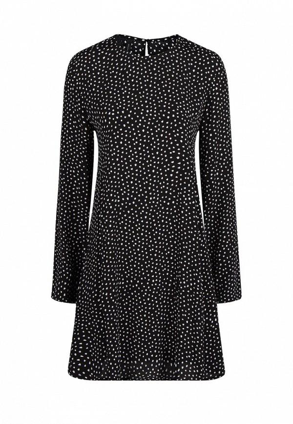 Черно-белое повседневное платье Mango