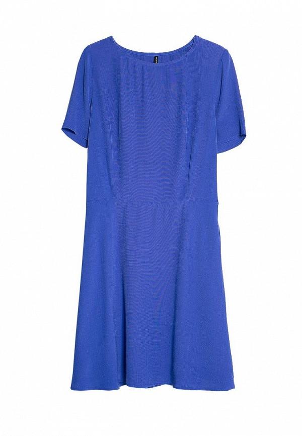 Яркое синее платье Mango