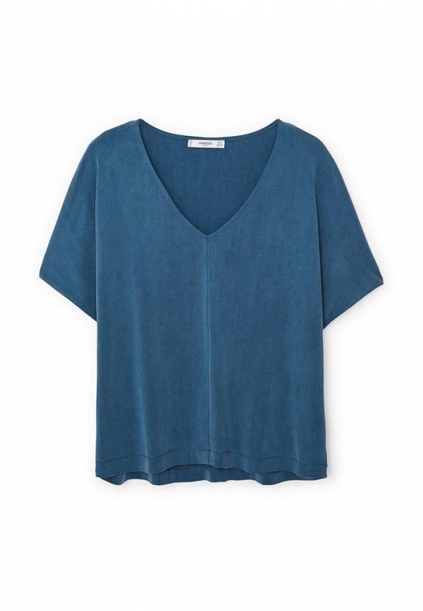 Женская синяя футболка Mango