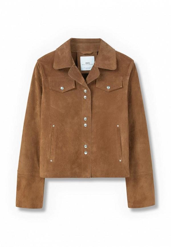 Кожаная куртка Mango (Манго) 73090247