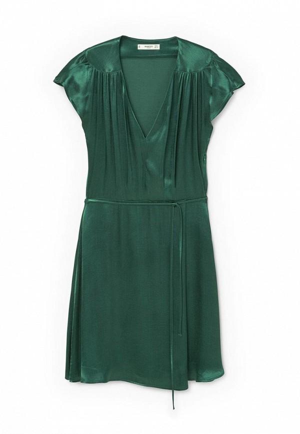 Купить женское платье Mango зеленого цвета