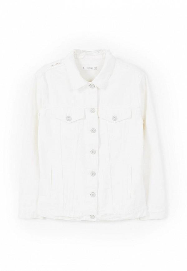 Куртка джинсовая Mango. Цвет: белый