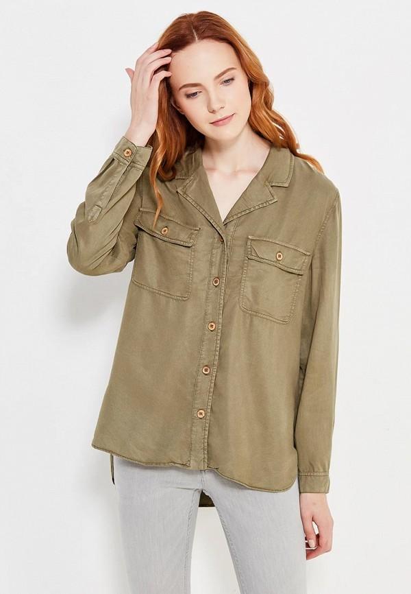 Фото - женскую рубашку Mango цвета хаки